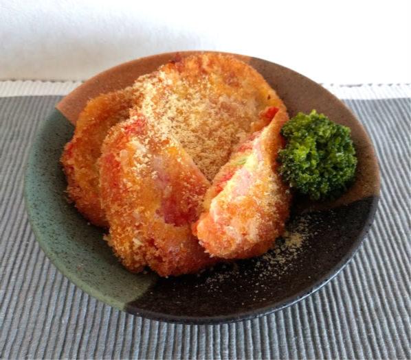 【レシピ】揚げたてが美味しい!トロッとジューシー「トマトのフライ」【だしとうま味の料理教室|名古屋】